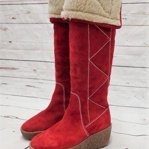 KORS Michael Kors Knee High Wedge Boot